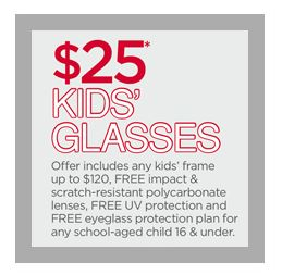 JCP Optical: $25 Kids' Glasses through September 7, 2013