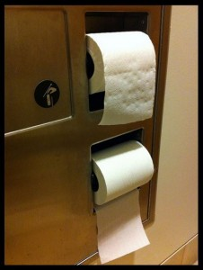 Toilet Paper: Dispensing from the top or the bottom?