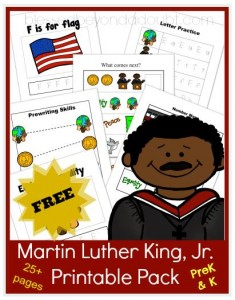 martin luther king jr printable packs and resources