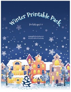 Gift of Curiosity: Winter Printable Pack