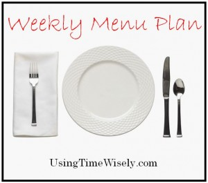 Weekly Menu Plan: February 17-22, 2014