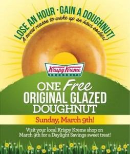 Krispy Kreme Doughnuts: Daylight Savings – March 9, 2014