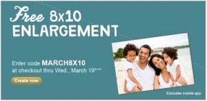 Walgreens: FREE 8x10 Photo Enlargement through March 19, 2014